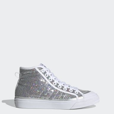 Women Originals Silver Nizza High Shoes