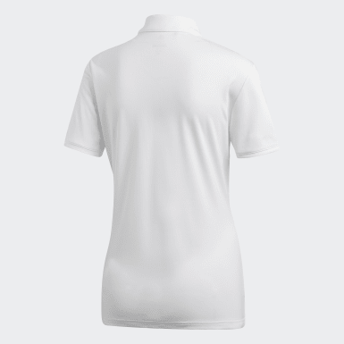 Women Golf White Tournament Polo Shirt