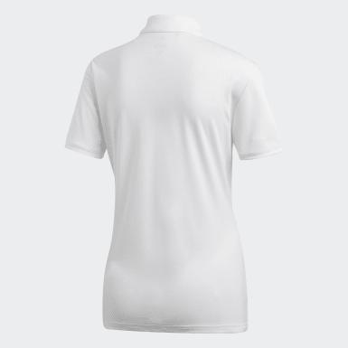 Women's Golf White Tournament Polo Shirt
