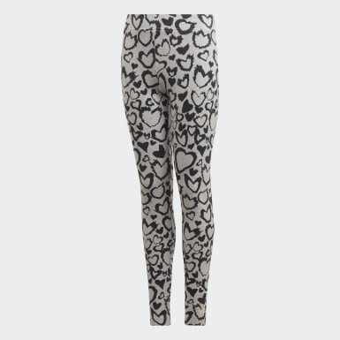Mädchen Training Must Haves Graphic Tight Grau