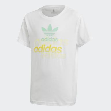 Kids Originals White Graphic T-Shirt