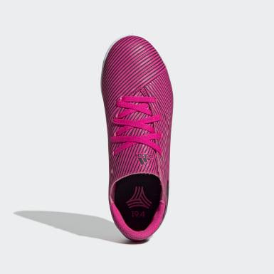 Boys Fodbold Pink Nemeziz 19.4 Indoor støvler