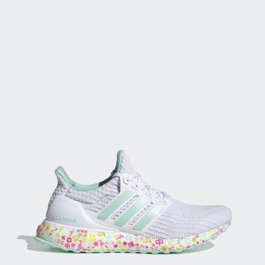 Women Running White Ultraboost Shoes