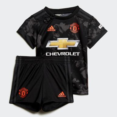 Baby Kit Third Manchester United Nero Bambini Calcio