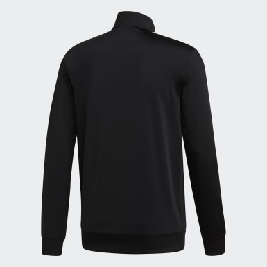Campera Essentials Tricot 3 rayas Negro Hombre Training
