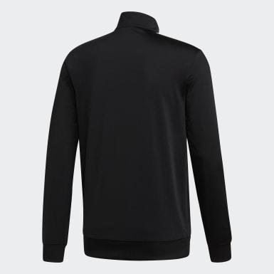 Männer Training Essentials 3-Streifen Tricot Trainingsjacke Schwarz