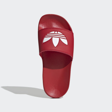 Claquette Adilette Lite rouge Adolescents Originals