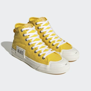 Men Originals Yellow Nizza Hi Alife Shoes