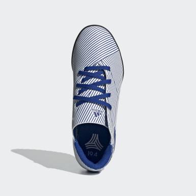Zapatos de fútbol Nemeziz 19.4 Pasto Sintético Blanco Niño Fútbol