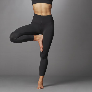 Women Running Black Elevate Yoga Flow 7/8 Tights