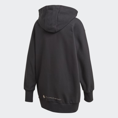 Felpa con cappuccio Full-Zip Nero Donna adidas by Stella McCartney