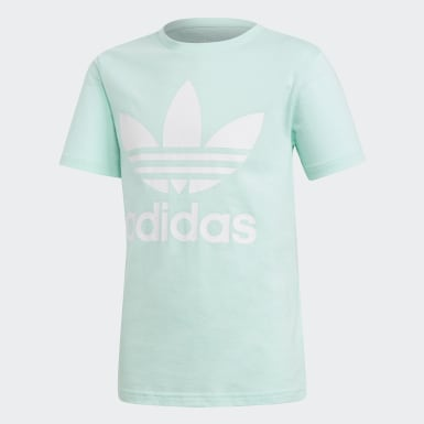 Youth Originals Turquoise Trefoil Tee