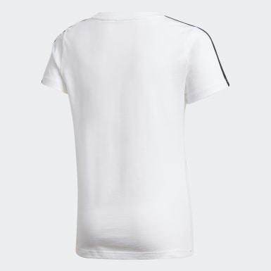 Girls Training White Gym Tee
