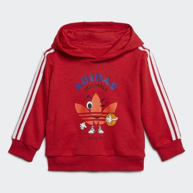 Tuta Hoodie Rosso Bambini Originals