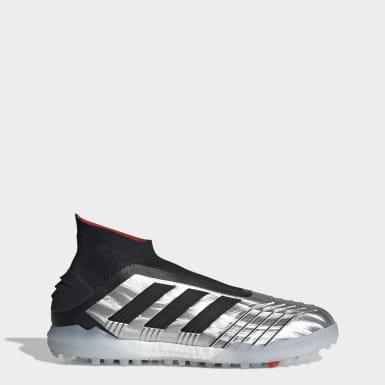 Zapatos de Fútbol Predator TAN 19+ Césped Artificial Plateado Hombre Fútbol