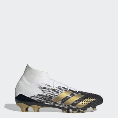 Voetbal Wit Predator Mutator 20.1 Artificial Grass Voetbalschoenen
