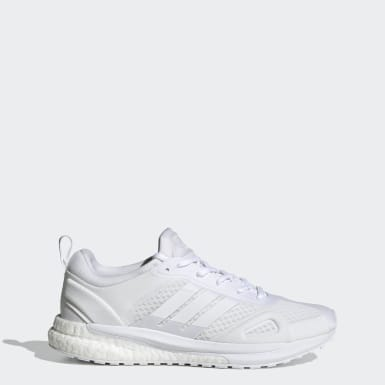 Women Running White SolarGlide Shoes