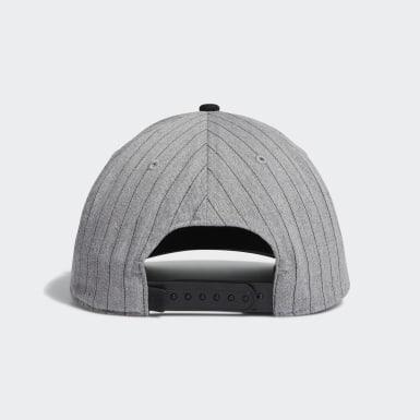 Men Golf Grey Pinstripe Hat