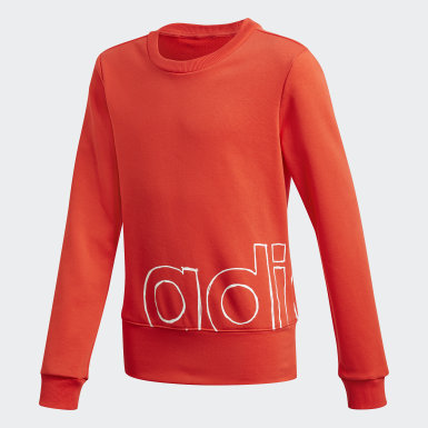 Kids Lifestyle Burgundy Logo Crew Sweatshirt