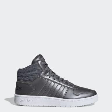 серебряный Баскетбольные кроссовки Hoops 2.0 Mid