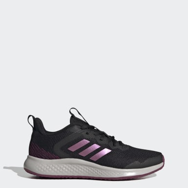 Women Running Black Fluidstreet Shoes