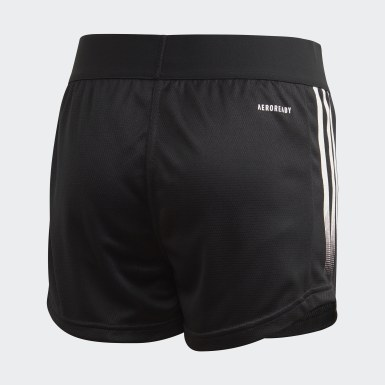 Girls Yoga Black AEROREADY Shorts