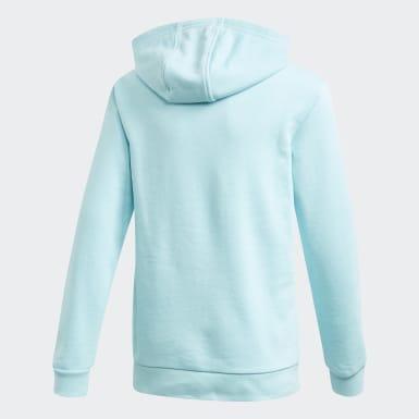 Camisola com Capuz Trefoil Azul Criança Originals
