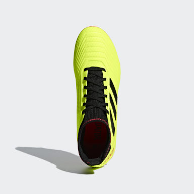 Calzado de Fútbol Predator 18.3 Terreno Firme Amarillo Fútbol