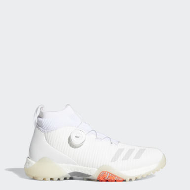 Women Golf White Codechaos BOA Mid Spikeless Golf Shoes