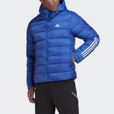 Men TERREX Blue Itavic 3-Stripes 2.0 Winter Jacket