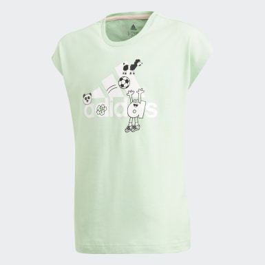 Kids Yoga Green Cleofus Tee