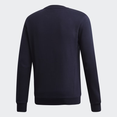 Männer Athletics Must Haves Badge of Sport Crew Sweatshirt Blau