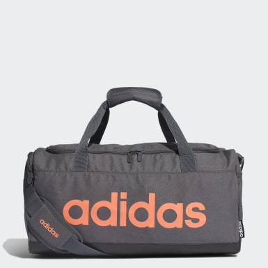 Training Grey Linear Logo Duffel Bag