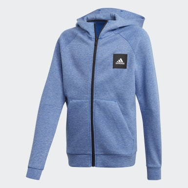 Jungen Training Must Haves Kapuzenjacke Blau