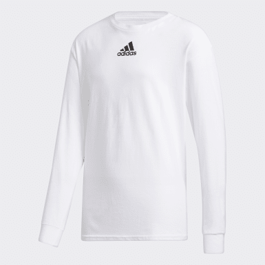 Youth Training White Y LS AMPLIFIER TEE -TEAM