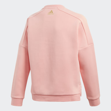 Girls Lifestyle Pink Crew Sweatshirt