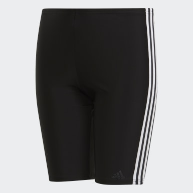 Boys Simning Svart 3-Stripes Badbyxor