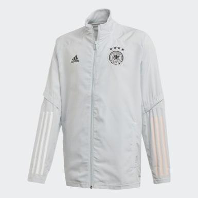 Kids Football Grey Germany Presentation Jacket
