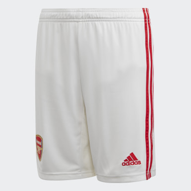 Short Domicile Arsenal Blanc Garçons Football
