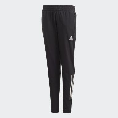 Girls Training Black Slim Woven Pants