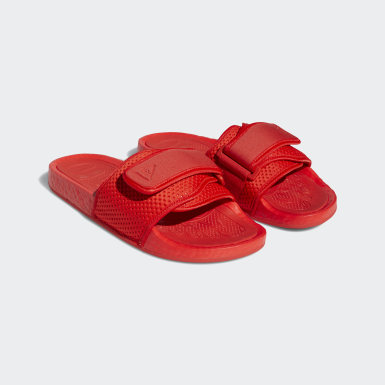 Pharrell Williams Boost Slides Czerwony