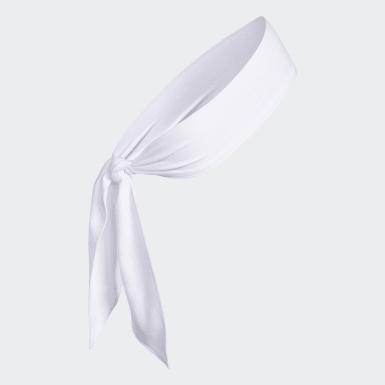 Training White Alphaskin Tie Headband