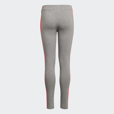 Girls Athletics Grå Essentials 3-Stripes tights