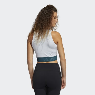 Canotta Techfit Crop Blu Donna Cross Training