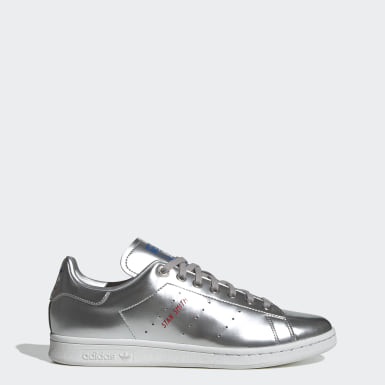 Men Originals Silver Stan Smith Shoes