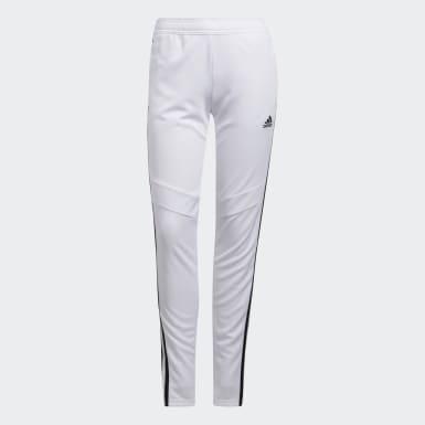 Pantalón entrenamiento Tiro 19 Blanco Mujer Fútbol