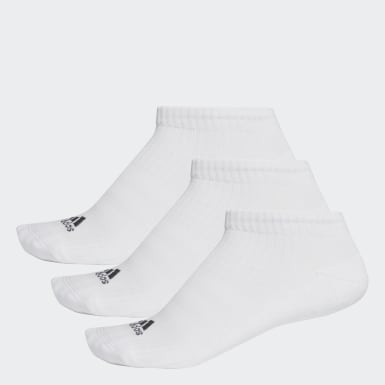 Socquettes invisibles 3-Stripes (lot de 3 paires) Blanc Training