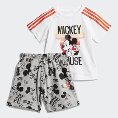 Jungen Training Disney Mickey Maus Sommer-Set Weiß