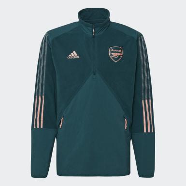 Men Football Green Arsenal Travel Fleece Top