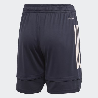 Youth 8-16 Years Football Blue Juventus Training Shorts